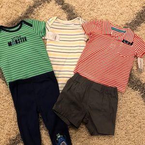 5 items! Baby boy shirts shorts and pants 👶🏻